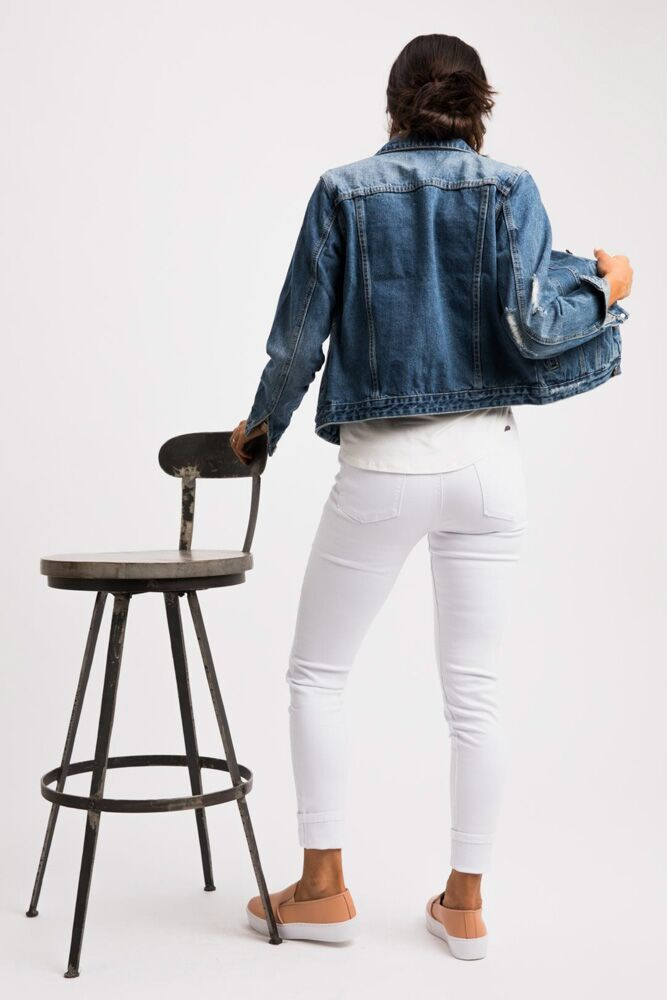 Ray of White High Rise Skinny Jeans - Bohme