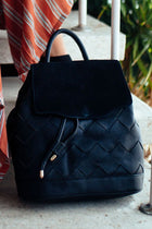 Blakely Braided Backpack in Black