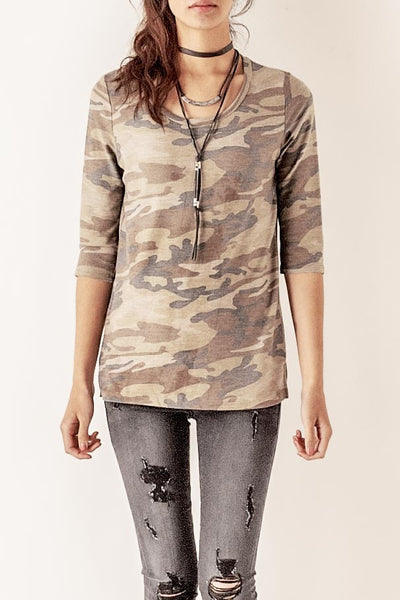 Camouflage Knit Top
