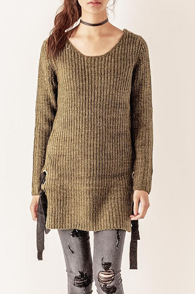 Drop Waist Sweater