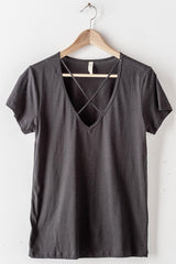 High Cross Neck Tee