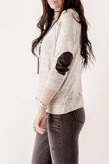 Soft Elbow Patch Top