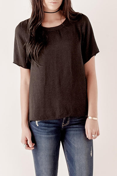 Black Dot Woven Top
