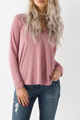 Modal Lace Up Top