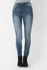 High Waisted Light Wash Skinny