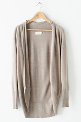 Basic Open Cardigan