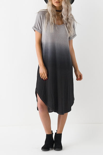 Knit Dip Dye Dress