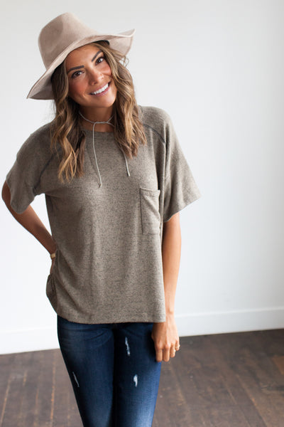 Olive Branch Soft Brushed Tee
