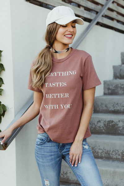 Tastes Better Rose Graphic Tee