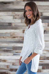 The Hamptons Striped Button Down
