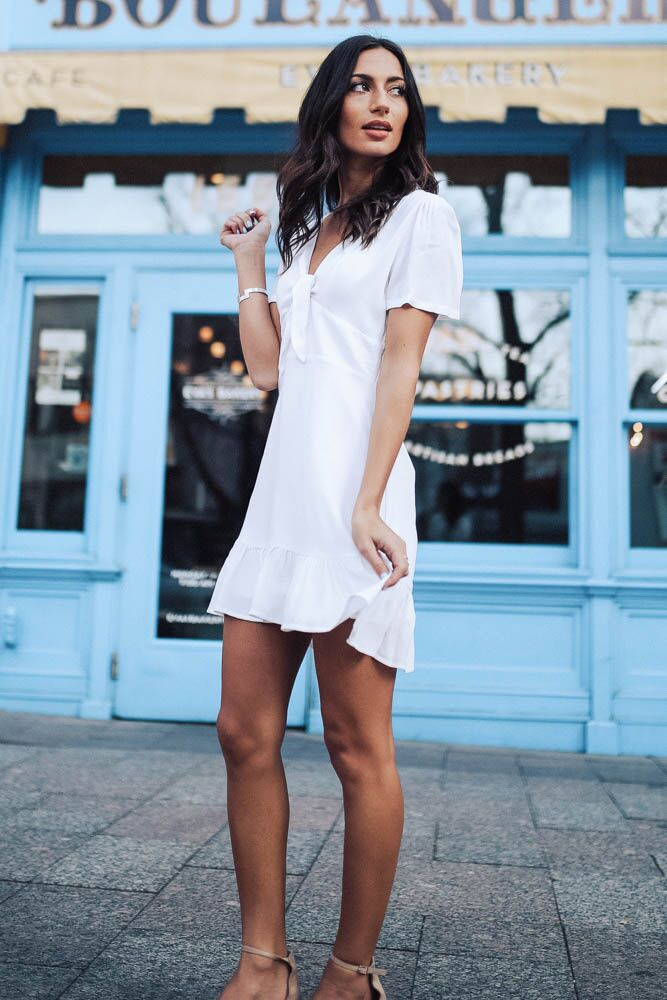 Who's that Girl White Keyhole Dress