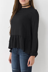 Gathered Neck Blouse