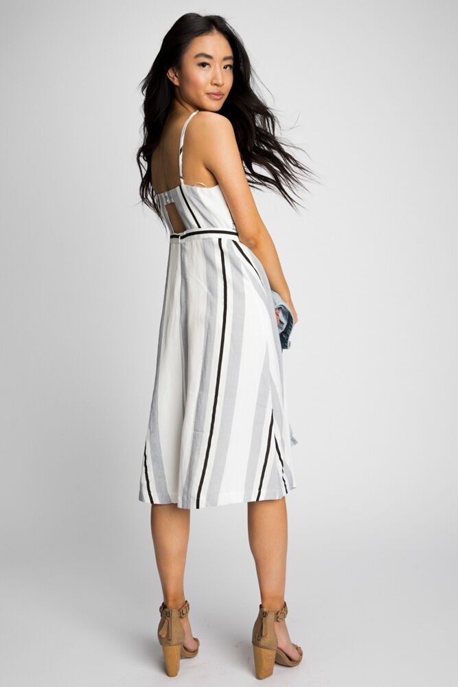 The Charlie Front Tie Stripe Dress