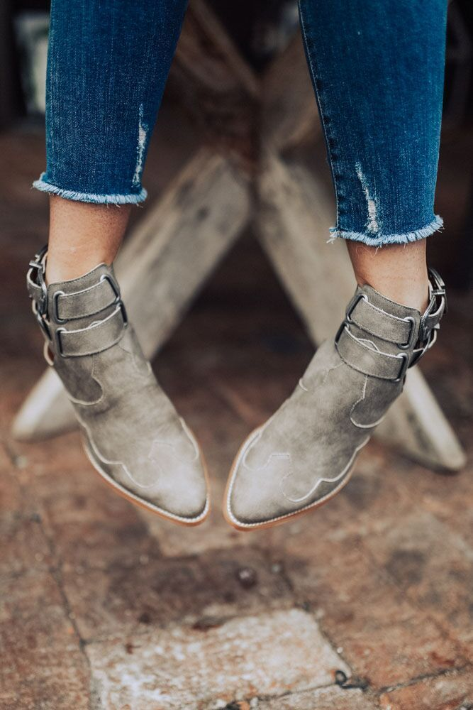 Buckle Up Western Paneled Booties