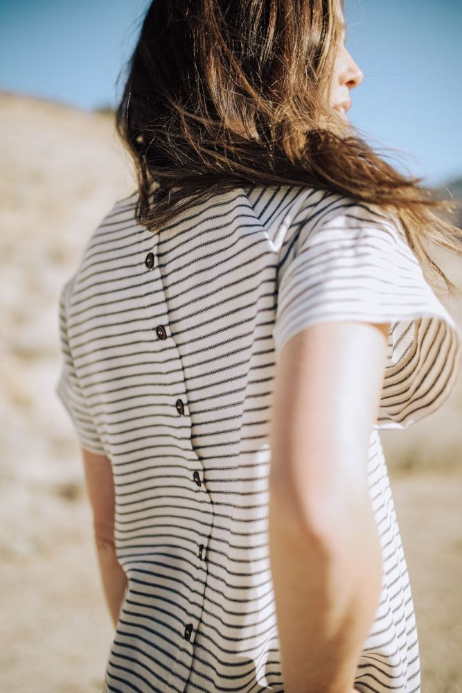 The Button Impact Striped Top