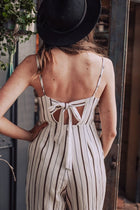 Drawing Attention Striped Jumpsuit