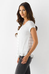 All Mixed Up Striped Top