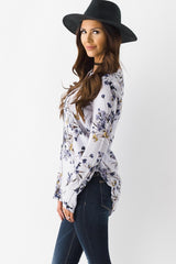 Gardens Of Lilac Floral Blouse