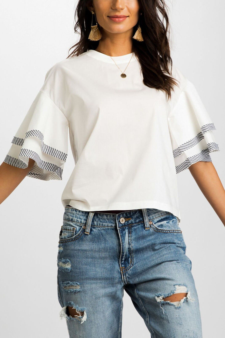 State Your Name Bell Sleeve Top
