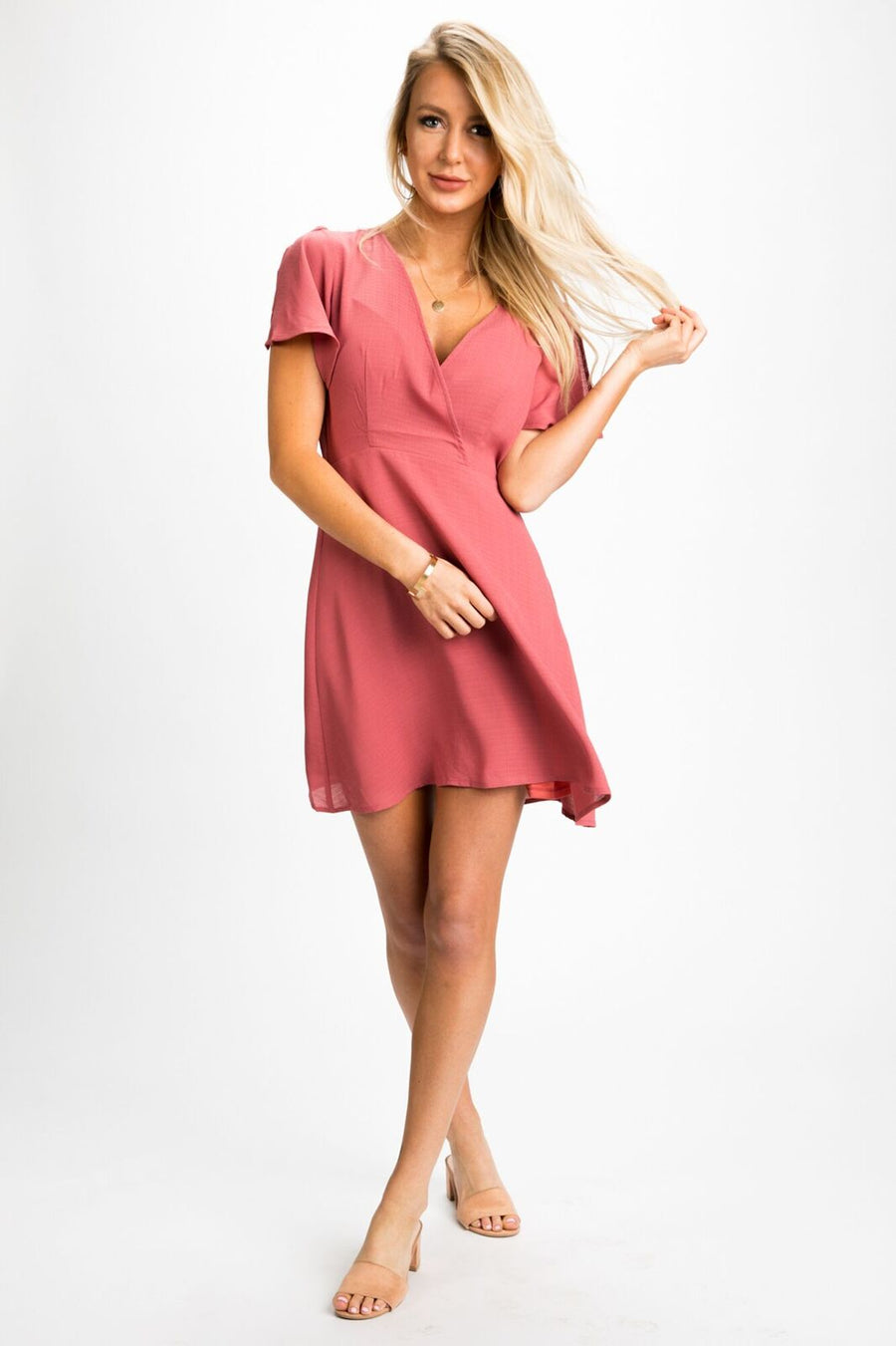 Make My Heart Flutter Sleeve Dress - Bohme