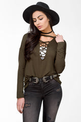 Long Sleeve Lace Up