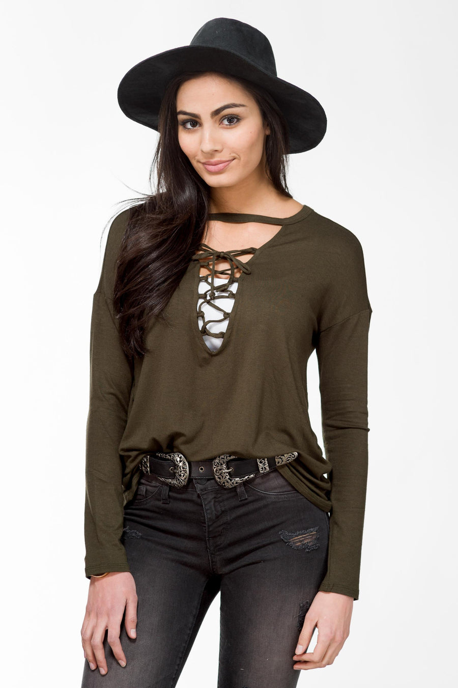 Long Sleeve Lace Up FINAL SALE