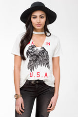 Eagle Cut Out Tee