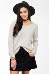 Sweater Slouch Knit Top