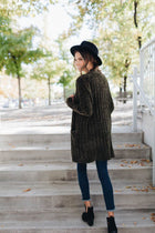 Be Mine Olive Chenille Cardigan