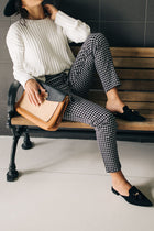 Hip Hugging Cropped Gingham Pants
