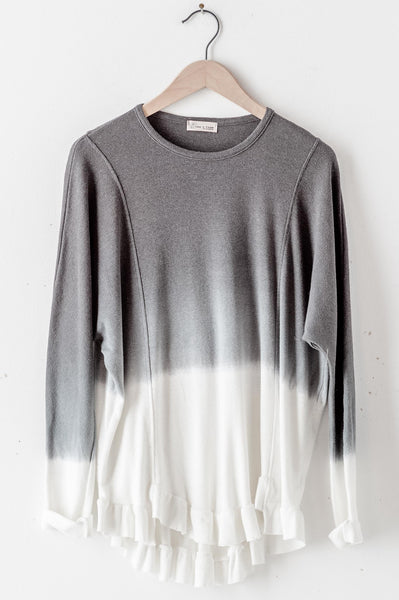 Ombre Long Sleeve Knit Top