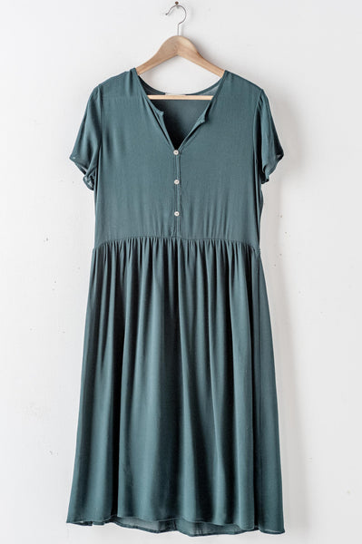 Chiffon Three Button Dress
