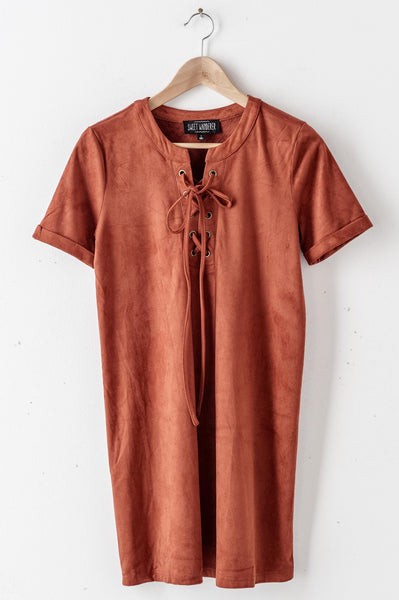 Cinnamon Suede Dress