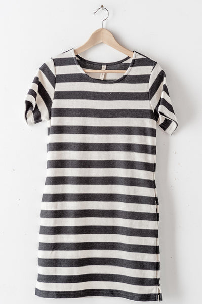 Striped Scoop Neck Dress