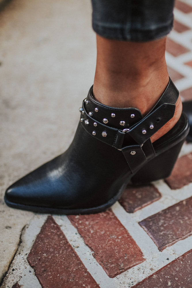 Zooey Studded Booties-FINAL SALE
