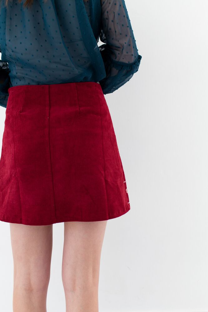 Anything Goes Embroidered Skirt
