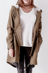 Jersey Lined Military Coat