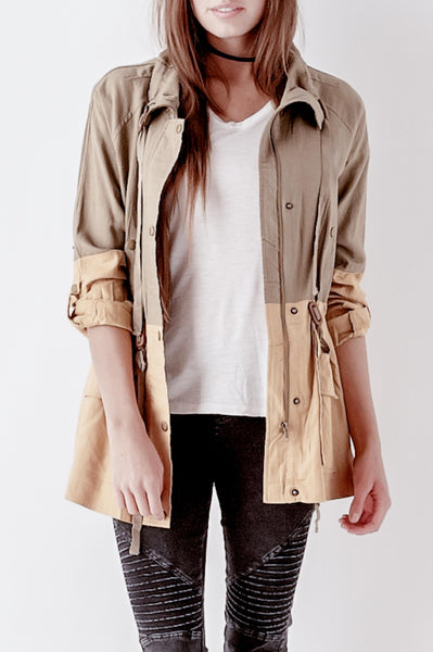 Woven Contrast Jacket