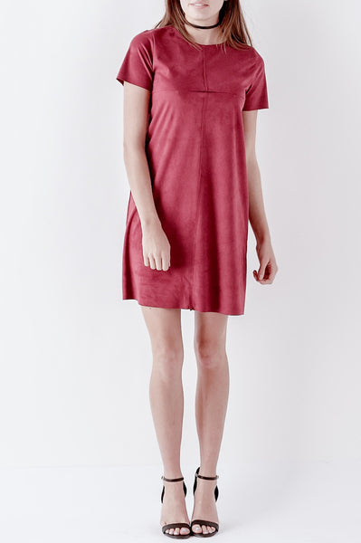 Box Suede Dress