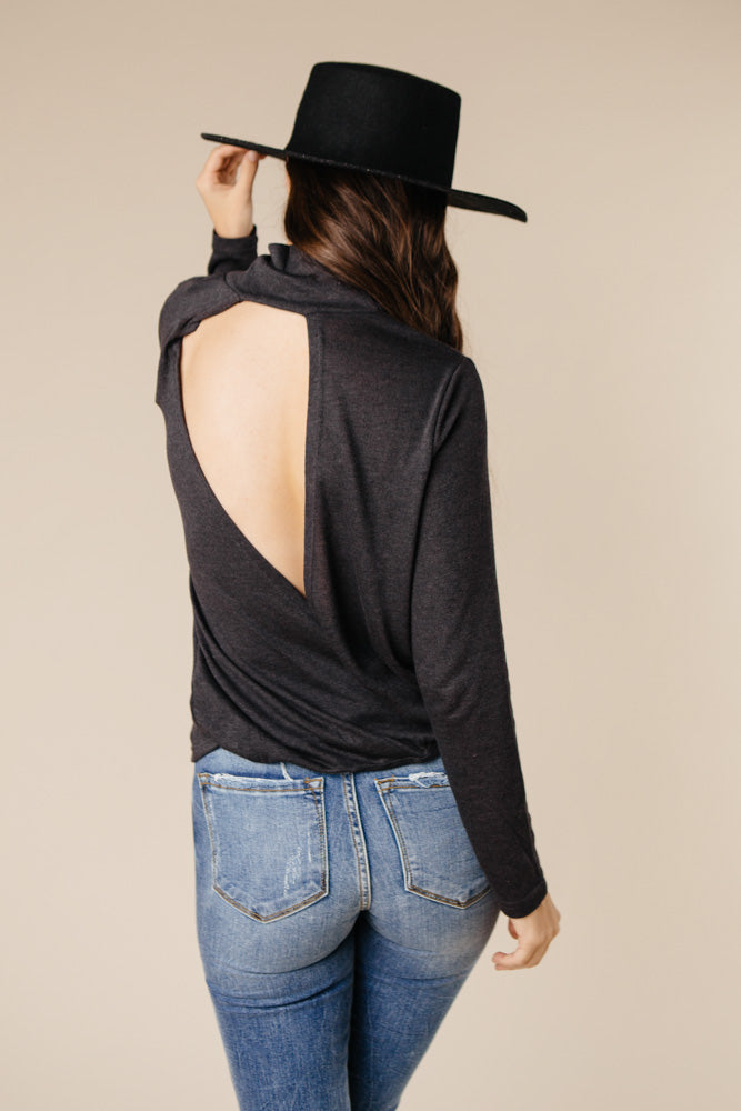Safe Inside Open Back Sweater