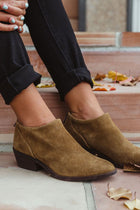 Lucky Brand Fai Suede Booties - Final Sale