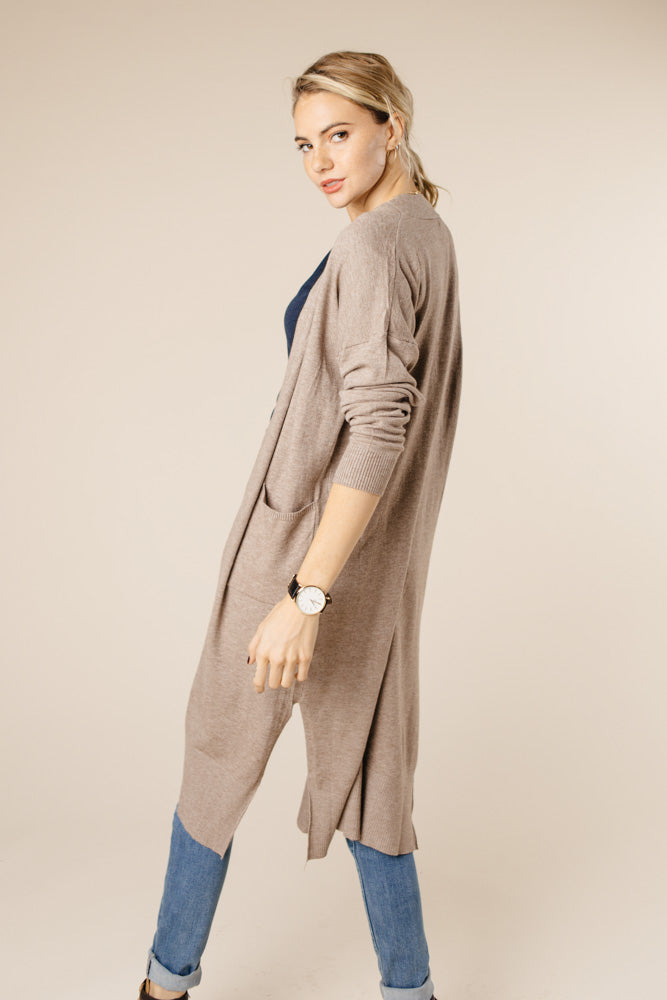 Eyes Wide Open Knit Cardigan in Mocha - Bohme
