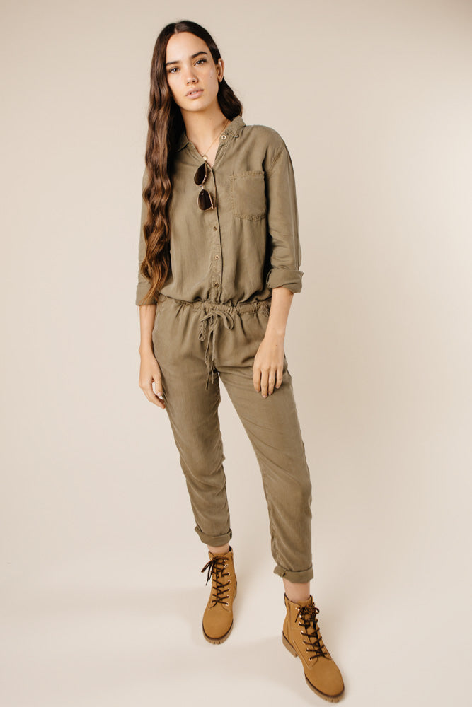 Boundless Olive Jumpsuit Bohme