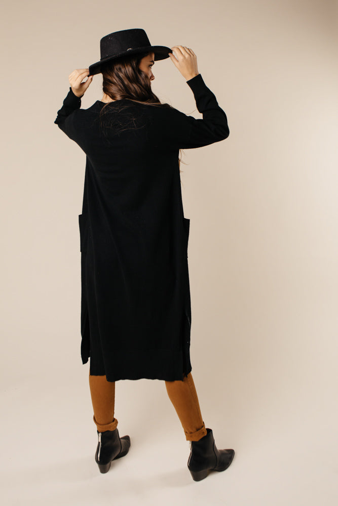 Eyes Wide Open Knit Cardigan in Black - Bohme