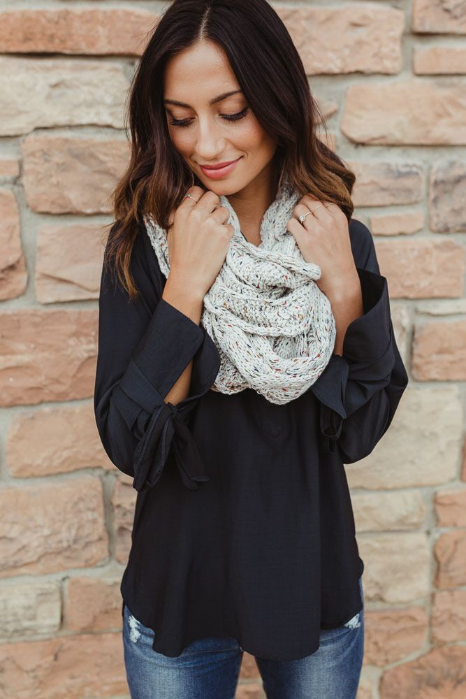 Hold Me Close Marbled Infinity Scarf