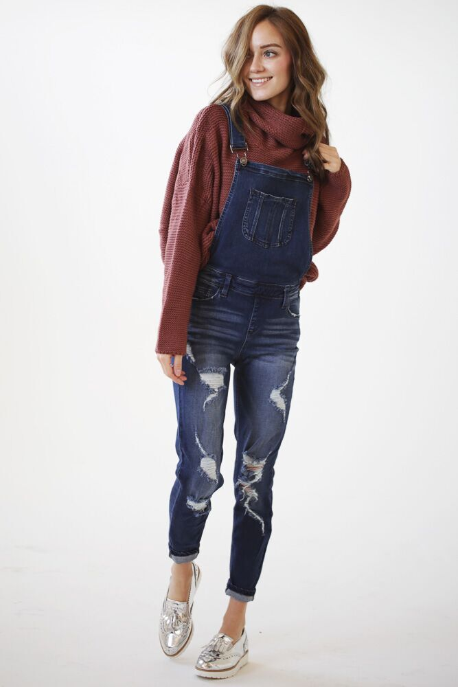 Take a Seat Distressed Overall