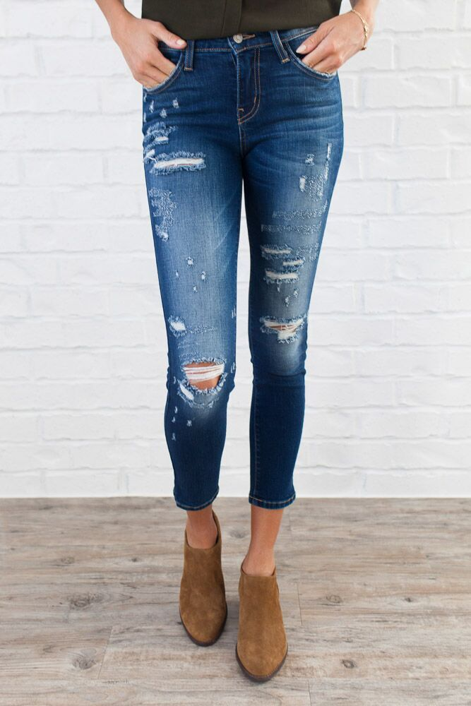 Flying Monkey Jeans Distressed About Nothing Skinny - Bohme