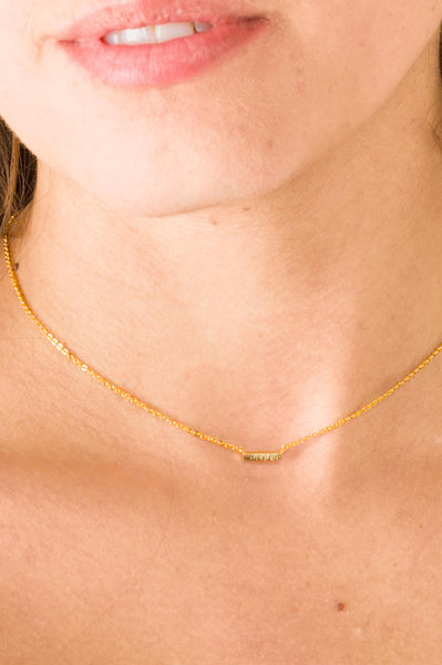 The Little Gold Bar Necklace