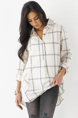 Window Pane Plaid Tunic