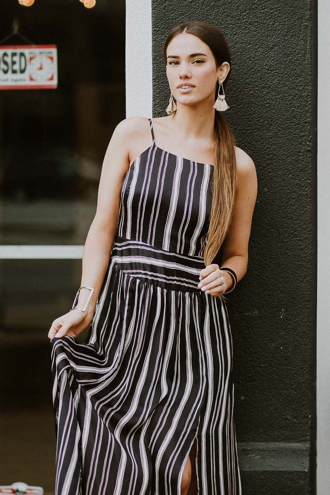 Leap of Faith Striped Maxi Dress